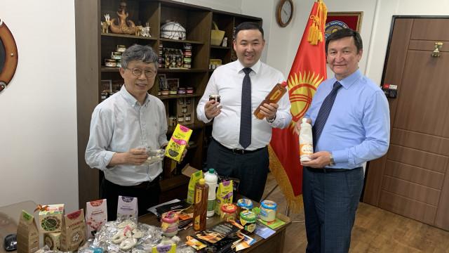 """Агентство направило образцы продукции отечественных экспортеров в """"Торговый офис Кыргызской Республики в Республике Корея"""""""